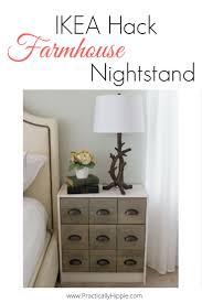 ikea hack farmhouse nightstand practically hippie