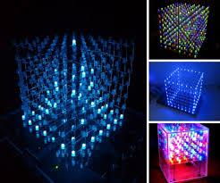 led cubes cubes