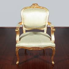 Gold Accent Chair Custom Made Solid Mahogany Gold French Occasional Accent Chair By