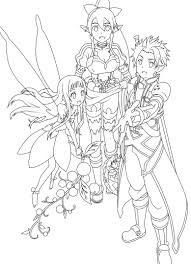 sword art online colouring in google search colouring in