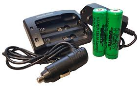 lights universal charger and 2 pack lithium ion