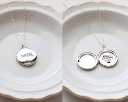 custom personalized jewelry personalized locket etsy