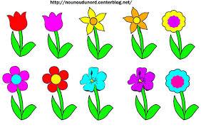 fleurs en couleur et à colorier à imprimer
