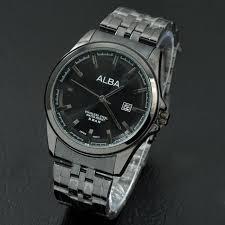 Jam Tangan Alba Pria jam tangan pria elegan alba al9078 black elevenia