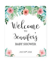 baby shower welcome sign floral baby shower welcome sign template floral shower decor