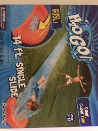 inflatable slip and slide h20 go single backyard long for kids