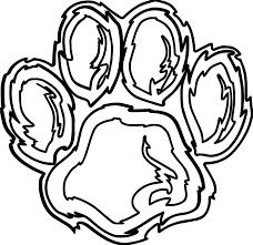 tiger footprint coloring page wecoloringpage
