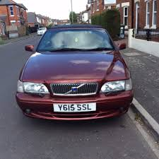 volvo cabriolet 2001 2 litre turbo wine red black canvas soft top
