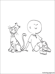 caillou gilbert coloring coloring pages