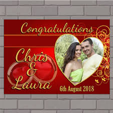 Congratulations Wedding Banner Personalised Congratulations Wedding Engagement Anniversary Party