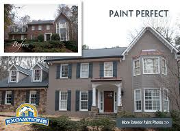 painted brick homes before and after house painting atlanta