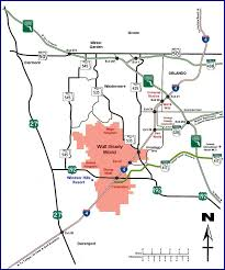 Map Of Kissimmee Windsor Hills Villa And Townhouse Rental Kissimmee Florida