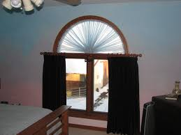traditional half moon window treatments cabinet hardware room