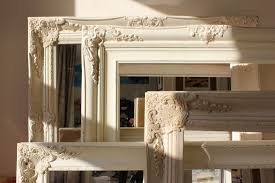 white distressed shabby chic mirror best home magazine gallery