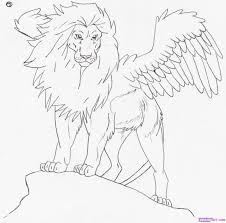 learn how to draw teggy the great lion gryphons fantasy free