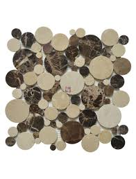 buy crema marfil penny round polished marble mosaic