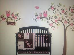 baby nursery decor colored wall decal owl themed baby
