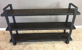 Barn Wood Shelves Reclaimed Barn Wood 3 Shelf Unit With Flat Steel Frame Barn Xo