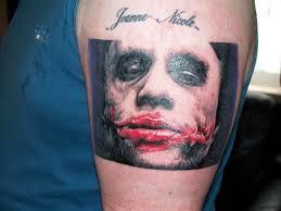 bloody joker head tattoo on arm tattoos book