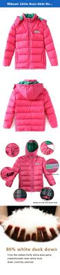 hiheart little boys girls hooded puffer duck down coat child