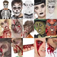 smiffys fx halloween make up face paint kit zombie devil witch