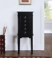Where To Buy A Jewelry Armoire Peyton Jewelry Armoire Black
