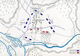 A Map Of The United States During The Civil War by Battle Of Trenton