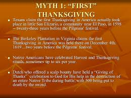 thanksgiving eleven myths of thanksgiving reasoning i believe it