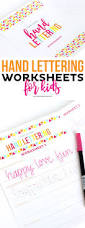 How To Make Worksheets Teach Kids Hand Lettering Printable Crush