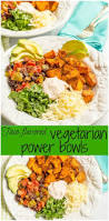 taco flavored vegetarian power bowl family food on the table