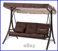 outdoor patio swing canopy hammock 3 person backyard furniture