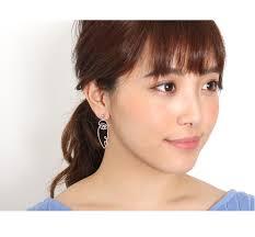 strange earrings kawa rakuten global market motif pierced earrings s