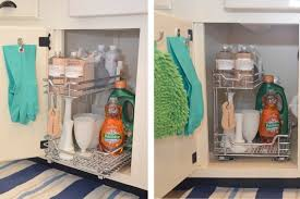 under kitchen sink storage solutions rollout drawers under sink under sink organizer ideas do it