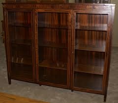 Mahogany Bookcase With Glass Doors Mahogany Empire Revival Paw Foot Door Mahogany Bookcase