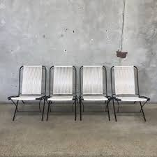 Vintage Patio Furniture - vintage mid century tubular steel folding patio chairs