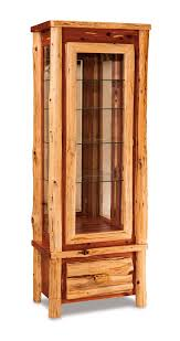 Images Of Curio Cabinets Country Lodge Curio Cabinet From Dutchcrafters Amish Furniture