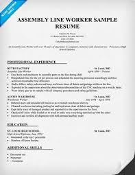 Factory Resume Examples by Tips For Drafting Factory Worker Resume