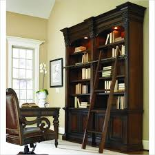 Rolling Ladder Bookcase Bookshelf Astonishing Bookcase With Ladder And Rail Awesome