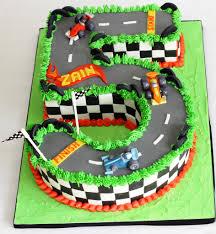 Hotwheels Styled Race Car 5th Birthday Cake Designer Cakes