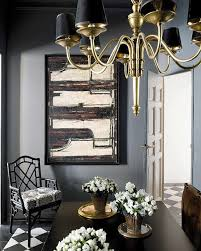 Brass Dining Room Chandelier Black Leather Dining Chairs Contemporary Dining Room
