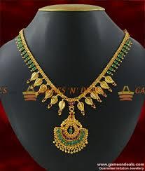 handmade necklace designs images Nckn213 cubic zircon stone necklace party wear handmade leaf jpg