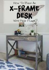 how to build a diy small computer desk free printable project