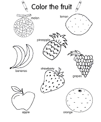 fruit and vegetable colouring pages best of coloring fleasondogs org