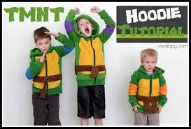 sewing pattern ninja costume tutorial diy ninja turtle hoodies vanilla joy