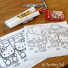 hello kitty writing paper hello kitty birthday party the weary chef frugal party favors print coloring sheets and wrap with four crayons in special colors