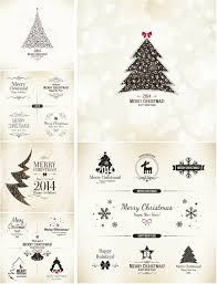 Xmas Designs For Cards Decorative Christmas Cards And Design Elements Vector Vector