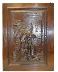 carved cabinet door panels hand french carved antique cabinet door medieval romantic scene