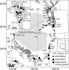 Southwestern United States Map by Case For A Temporally And Spatially Expanded Mazatzal Orogeny