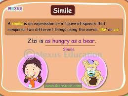 figurative language similes sol 5 4d lessons tes teach