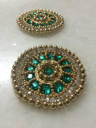 green gold beaded indian applique moti beads handwork indian